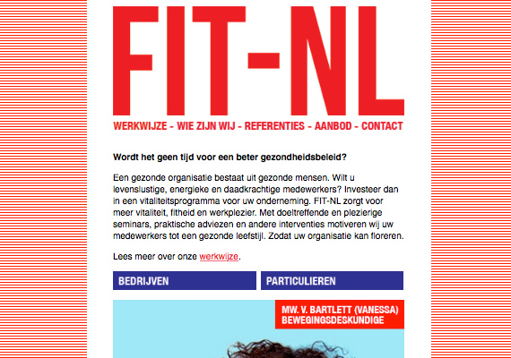 Realisatie website FIT-NL.